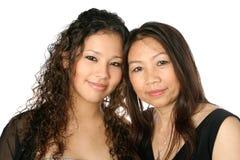 Matriz e filha bonitas imagem de stock royalty free