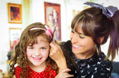 Matriz e filha bonitas Fotografia de Stock