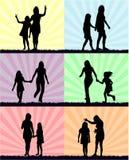 Mãe e filha - divertimento foto de stock royalty free