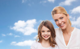 Matriz e filha felizes Fotografia de Stock Royalty Free