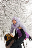 Matriz e filha no inverno fotos de stock royalty free