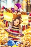 Matriz e filha no parque Fotos de Stock