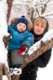 Matriz e filho ao ar livre foto de stock royalty free