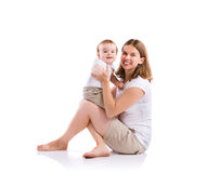 Matriz e filho bonitos Fotografia de Stock Royalty Free