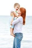 Matriz e filho felizes Fotografia de Stock