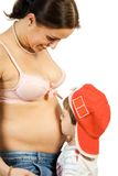 Matriz e filho felizes da gravidez Imagens de Stock Royalty Free