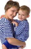 Matriz e o abraço do filho Imagens de Stock Royalty Free