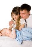 Matriz e pai com sua criança pequena Fotografia de Stock Royalty Free