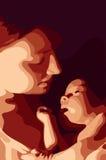 Matriz e seu bebê fotografia de stock royalty free