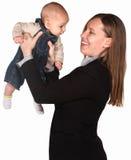 Matriz executiva com criança Fotografia de Stock Royalty Free