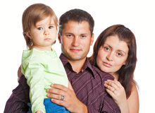 Matriz, fathher e filha pequena imagem de stock