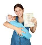 Matriz feliz com bebê imagens de stock