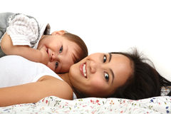 Matriz feliz com bebê Fotos de Stock Royalty Free
