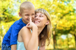 Matriz feliz com criança Imagem de Stock