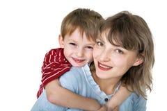 Matriz feliz com criança Fotografia de Stock Royalty Free