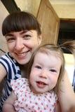 Matriz feliz com sua filha Imagem de Stock Royalty Free