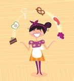 Matriz - herói super da cozinha ilustração royalty free