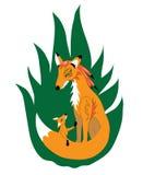 Matriz impetuosa da raposa ilustração do vetor
