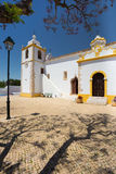Matriz-Kirche in Alvor, Portimao Stockbild