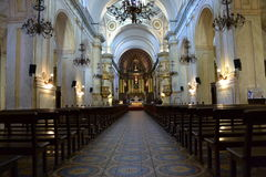 Matriz kościół w starym mieście Obraz Stock