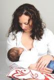 Matriz nova e seu bebê Imagem de Stock