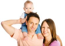 Matriz, pai e filho felizes foto de stock royalty free