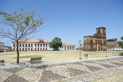 Matriz plac i Sao Matias kościół w Alcantara Brazylia Zdjęcia Stock