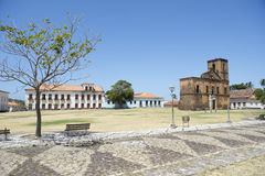Matriz Plaza and Sao Matias Church in Alcantara Brazil Stock Photos