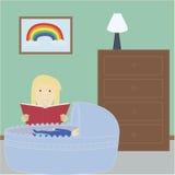 Matriz que lê à criança Imagens de Stock Royalty Free