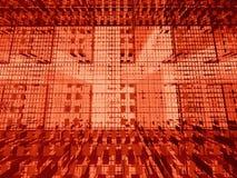 Matriz roja 3d ilustración del vector
