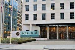 Matrizes de AFL CIO no Washington DC foto de stock