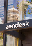 Matrizes e logotipo de Zendesk Coporate Imagens de Stock