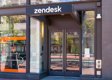 Matrizes e logotipo de Zendesk Coporate Imagens de Stock Royalty Free