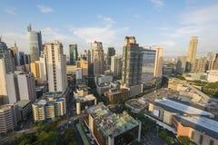 Matro Manila, città di Makati fotografie stock