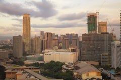 Matro Manila, Makati stad royaltyfri fotografi