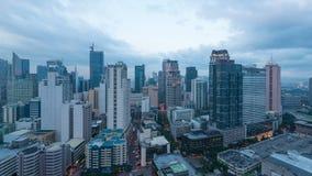 Matro Manille, ville de Makati banque de vidéos