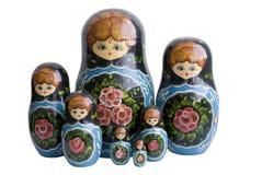 Matroska dolls. Russian national toy - Matroska doll - isolated Royalty Free Stock Image