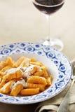 Maträtt av pumpagnocchi Royaltyfri Foto