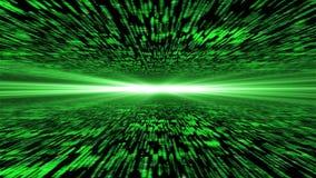 Matryca 3d - latający przez wzmacniającej cyberprzestrzeni, światło na ho Zdjęcia Stock