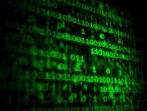 Matrycowy kod Copyspace Pokazuje Cyfrowych liczby Programuje Backgrou royalty ilustracja