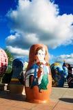 matryoshka玩偶在NZH满洲里城市,中国 免版税库存图片