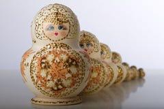 Matryoshka玩偶,俄国工艺品 库存图片