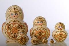 Matryoshka玩偶,俄国工艺品 免版税库存图片