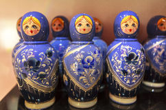Matryoshka玩偶,俄罗斯 免版税库存图片