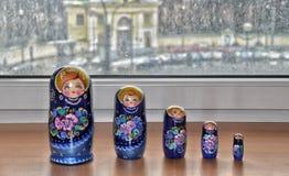 Matryoshka,俄国嵌套玩偶 库存图片