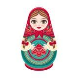 Matryoshka Ρωσική λαϊκή να τοποθετηθεί κούκλα Στοκ Φωτογραφίες