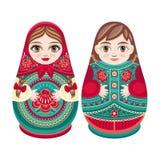 Matryoshka Ρωσική λαϊκή να τοποθετηθεί κούκλα Στοκ Φωτογραφία