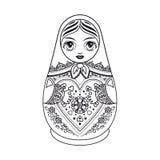 Matryoshka Ρωσική λαϊκή να τοποθετηθεί κούκλα Στοκ Εικόνες