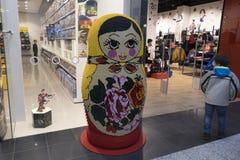 Matryoshka в торговом центре Стоковое Изображение RF