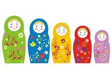 matryoshka куклы Стоковые Изображения